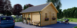 Insulated Residential Log Cabin SCOOT 4.5m x 6m (15x20 ft) Building Reg Friendly visualization 6