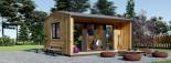 Insulated Garden Office TINA 4m x 4m (13x13 ft) Twin Skin visualization 1