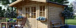 Insulated Garden Log Cabin OLYMP 4m x 3m (13x10 ft) Twin Skin visualization 7