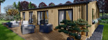 Insulated Granny Annexe NICOLE M 12.7m x 6.15m (42' x 20') visualization 10