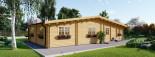 Log Cabin House RIVIERA 13m x 9m (43x30 ft) 66 mm visualization 7