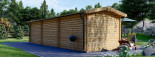 Insulated Log Cabin STRONGHOLD 3m x 10m (10x33 ft) Twin Skin visualization 5