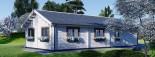 Insulated Residential Log Cabin PAULA 14.5m x 13m (48x43 ft) Building Reg Friendly visualization 4