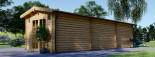 Insulated Log Cabin STRONGHOLD 3m x 10m (10x33 ft) Twin Skin visualization 6