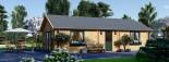 Insulated Residential Log Cabin GRETA 9m x 6m (30x20 ft) Building Reg Friendly visualization 3