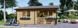 Log Cabin OLIVIA 6m x 6m (20x20) 44 mm visualization 7