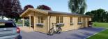 Insulated Log Cabin House LINDA 8m x 12m (26x40 ft) Building Reg Friendly visualization 7