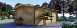 Log Cabin NORA 7m x 3.5m (23x11 ft) 44 mm visualization 5