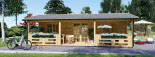Insulated Residential Log Cabin AMELIA 9m x 6m (30x20 ft) Building Reg Friendly visualization 3