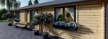 Insulated Residential Log Cabin GRETA 9m x 6m (30x20 ft) Building Reg Friendly visualization 9
