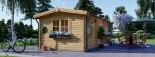Log Cabin NORA 7m x 3.5m (23x11 ft) 44 mm visualization 8