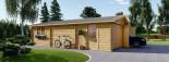 Double Wooden Garage 6m x 9m (20x30 ft) 66 mm visualization 6