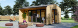 Insulated Garden Office TINA 4m x 4m (13x13 ft) Twin Skin visualization 4