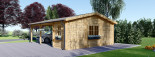 Double Wooden Carport With Shed 7.7m x 6m (25x20 ft) 44 mm visualization 5