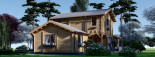 Log Cabin House HOLLAND PLUS 13.5m x 8.5m (44x28 ft) 66 mm visualization 4
