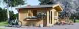 Insulated log cabin WISSOUS 5m x 5m (17' x 17') TwinSkin visualization 8