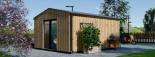 Insulated Garden Office TINA 5.5m x 5m (18x16 ft) Twin Skin visualization 4