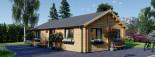 Insulated Residential Log Cabin GRETA 9m x 6m (30x20 ft) Building Reg Friendly visualization 1