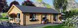Insulated Residential Log Cabin GRETA 9m x 6m (30x20 ft) Building Reg Friendly visualization 6