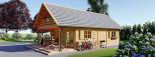 Log Cabin House AURA 6m x 12m (20x40 ft) 66 mm visualization 5