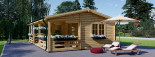 Insulated Residential Log Cabin AMELIA 9m x 6m (30x20 ft) Twin Skin visualization 8