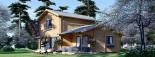 Log Cabin House HOLLAND PLUS 13.5m x 8.5m (44x28 ft) 66 mm visualization 1