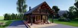 Insulated Log Cabin House AURA 6m x 12m (20x40 ft) Building Reg Friendly visualization 10