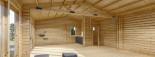 Insulated Garden Studio MARINA 8m x 6m (26x20 ft) Building Reg Friendly visualization 10