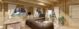 Log Cabin House LINDA 8m x 12m (26x40 ft) 66 mm visualization 10