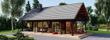 Insulated Log Cabin House AURA 6m x 12m (20x40 ft) Building Reg Friendly visualization 8