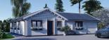 Insulated Residential Log Cabin PAULA 14.5m x 13m (48x43 ft) Building Reg Friendly visualization 6
