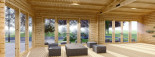 Insulated Garden Studio MARINA 8m x 6m (26x20 ft) Building Reg Friendly visualization 9