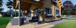 Log Cabin House VERA 11.9m x 9.7m (39x32 ft) 66 mm visualization 9