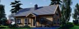 Insulated Log Cabin House VERA 11.9m x 9.7m (39x32 ft) Building Reg Friendly visualization 6