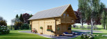 Log Cabin House LANGON 6m x 8.7m (20x29 ft) 66 mm visualization 5