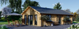 Insulated Residential Log Cabin GRETA 9m x 6m (30x20 ft) Building Reg Friendly visualization 4