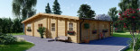 Log Cabin House RIVIERA 13m x 9m (43x30 ft) 66 mm visualization 9