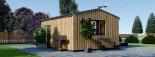 Insulated Garden Office TINA 5.5m x 5m (18x16 ft) Twin Skin visualization 5