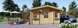 Residential Log Cabin DIJON 6.6m x 7.8m (22x26 ft) 44 mm visualization 6