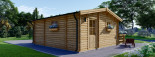 Residential Log Cabin ALTURA 6m x 6.7m (20x22 ft) 44mm visualization 6