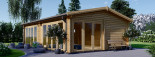 Insulated Garden Studio MARINA 8m x 6m (26x20 ft) Building Reg Friendly visualization 7
