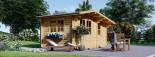 Garden Log Cabin BENINGTON 4.5m x 3m (15x10 ft) 34 mm visualization 2