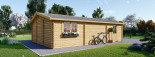 Double Wooden Garage 6m x 9m (20x30 ft) 66 mm visualization 7
