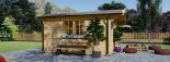 Insulated Log Cabin NINA 5m x 5m (16x16 ft) Twin Skin visualization 7