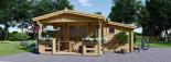 Log Cabin ISLA 6m x 5m (20x16 ft) 44 mm visualization 2