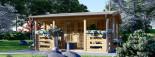 Log Cabin ROYAL 5m x 5m (16x17 ft) 44 mm visualization 2