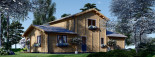 Log Cabin House HOLLAND PLUS 13.5m x 8.5m (44x28 ft) 66 mm visualization 7
