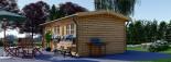 Log Cabin NORA 7m x 3.5m (23x11 ft) 44 mm visualization 4