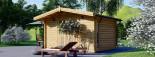 Garden Log Cabin RENNES 4m x 3m (13x10 ft) 34 mm visualization 5