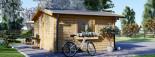 Insulated log cabin WISSOUS 5m x 5m (17' x 17') TwinSkin visualization 7